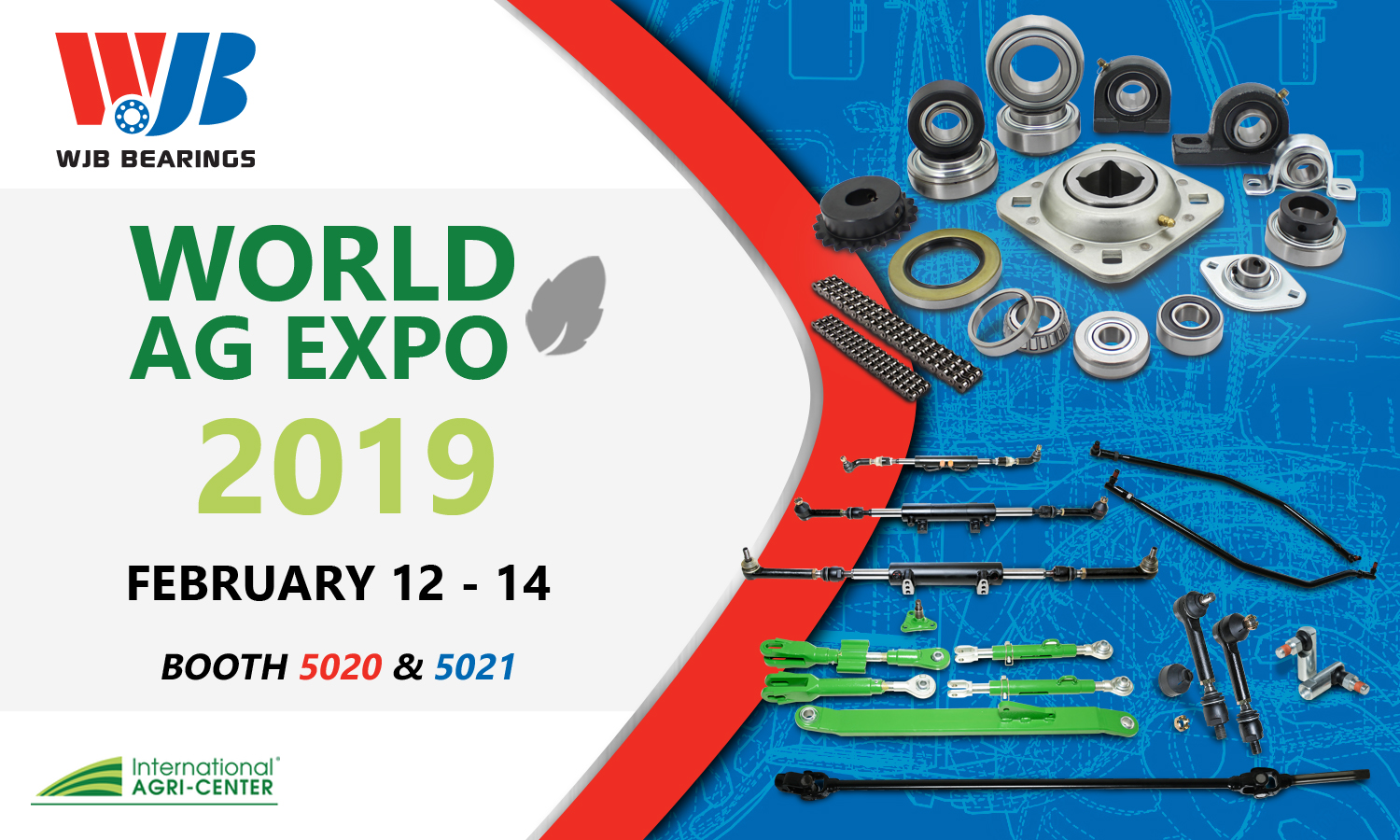 wjb bearings showcasing at world ag expo 2019 wjb group news. Black Bedroom Furniture Sets. Home Design Ideas